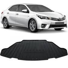 Super Tapete Porta Malas Bandeja Toyota Corolla 2015 a 2018 Preto em PVC  &OX54