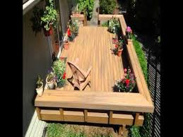 deck bench with back rest youtube