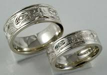 wolf wedding rings northwest coast design wedding bands