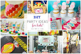 the birthday ideas the ultimate diy kids birthday party idea up view from