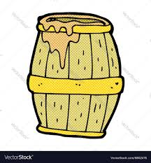beer cartoon comic cartoon beer barrel royalty free vector image