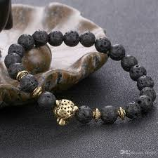 mens bracelet stones images European women and men 39 s 8mm volcanic stone elastic beaded jpg
