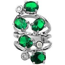 emerald earrings uk bold statement costume jewelry rings uk fashion green swirl ring