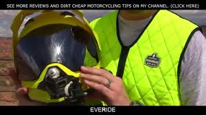 motocross helmet with speakers best dual sport helmet for the money afx fx39 review o o youtube