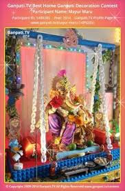 Home Ganpati Decoration Paper Craft Ganpati Decoration Ganapati Decoration Pinterest