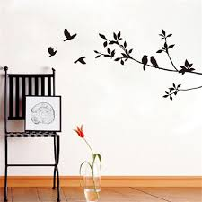 online get cheap birds and trees wall stickers aliexpress com diy birds on tree branches vinyl wall sticker waterproof removable home decoration bedroom decor wall art