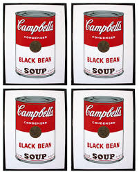 set of 4 andy warhol inspired campbell u0027s soup display print poster