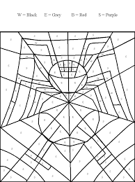 spider color pages kids coloring