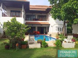 beautiful 2 storey house with pool for long term rent in khao