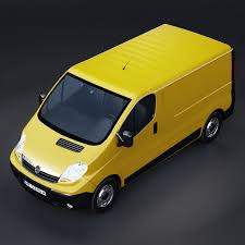 opel yellow opel vivaro 3d model cgtrader