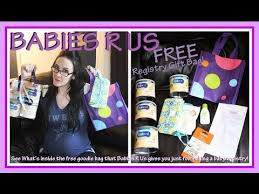 baby gift registries babies r us baby registry gift bag whats inside the free bag