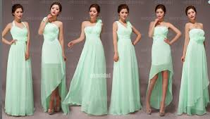 bridesmaids dress mint bridesmaid dresses yuman dakren
