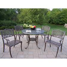 Patio Chairs Without Cushions by Cast Aluminum Patio Dining Set Seats 6 Patio Dining Sets At Patio