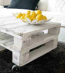 white wood coffee table two white washed pallets stacked for a coffee table like it diy