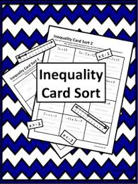 inequality solving u0026 graphing card sort knowledge and students