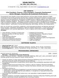Financial Analyst Resume Template Financial Resume Template Learnhowtoloseweight Net