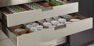 drawer organization downsview kitchens and fine custom cabinetry