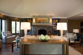 console table behind sofa behind sofa table living room traditional with accent lights area