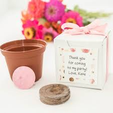 baby girl shower favors themed baby shower favors personalized mini garden gift set
