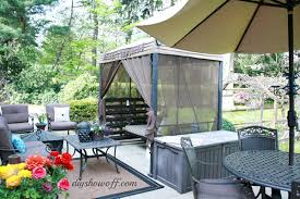 affordable outdoor style diy patio swing makeover curbly