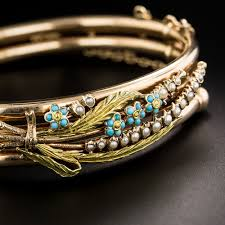 pearl bangle bracelet images Victorian rose gold turquoise and seed pearl bangle bracelet jpg