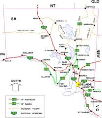 the state of south australia road network maps