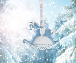 wedgwood 2017 baby s 1st rocking blue ornament