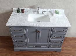 stufurhome newport grey 48 inch single sink bathroom vanity with