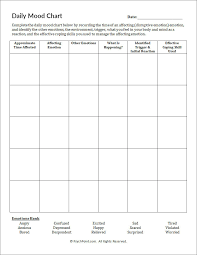 daily mood chart worksheet psychpoint