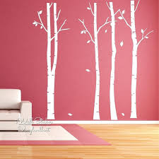 Wall Mural White Birch Trees Wall Ideas Owl Tree Vinyl Wall Art Cheap Extra Large Black Tree