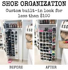 shoe storage custom built in look for less than 100 house of