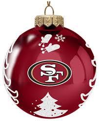 memory company san francisco 49ers glass tree ornament