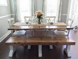farmhouse table u0026 bench shanty 2 chic
