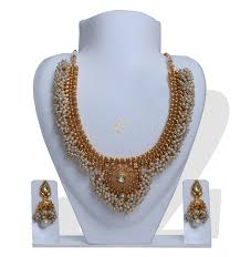 Buy Alankruthi Pearl Necklace Set Pearl Necklace Sets Online Jewelry Ufafokus Com