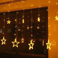 Amber Christmas Lights Christmas Lights Fairy Star Led Curtain String From Blinkingsilver