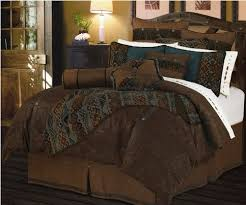 brown and turquoise bedding hiend accents del rio comforter set