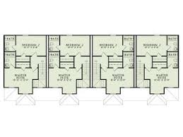 two story apartment floor plans apartment house plans 4 living units two story design 025m