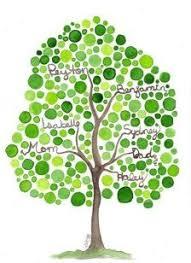 wedding diy fingerprint tree template to print