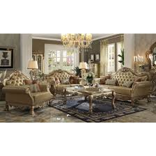 sofa dresden acme dresden sofa with 4 pillows in gold patina bone ac 53160