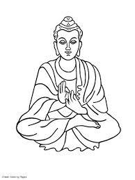 Hindu Mythology Buddha 3 Gods And Goddesses Printable Buddhist Coloring Pages