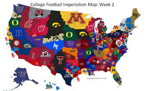 Wisconsin On The Map by College Football Imperialism Map Buckyville