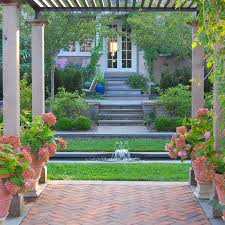 Flagstone Patio With Pergola Landscape Projects