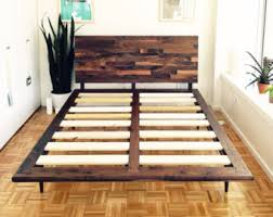 How To Make A Wood Platform Bed Frame by Mid Century Bed Etsy