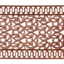 copper ribbon patterned wire copper floral ribbon with edging 24 6