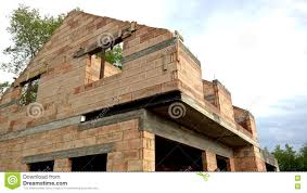 modern bungalow under construction stock photo image 74884130