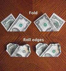money flowers how to make a money feltmagnet
