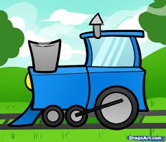 drawn wind train pencil and in color drawn wind train