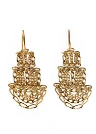 pagoda earrings small gold pagoda earrings kate wood jewellery