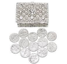 arras de boda wedding unity coins arras de boda chest box and