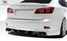lexus is 250 white free shipping on duraflex 06 13 lexus is250 is350 w 1 rear lip